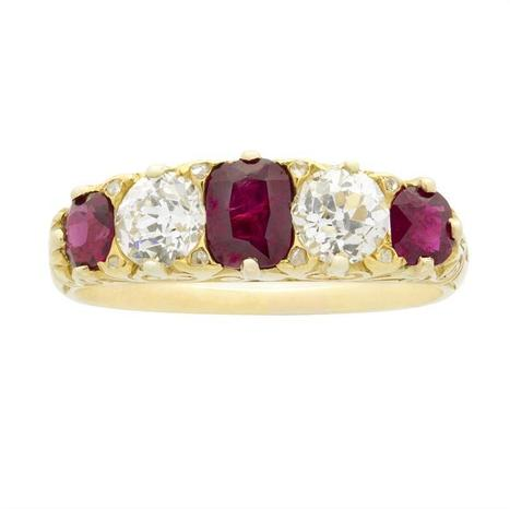 A fine Victorian five-stone ruby and diamond ring - Bentley & Skinner | Bentley And Skinner | Scoop.it