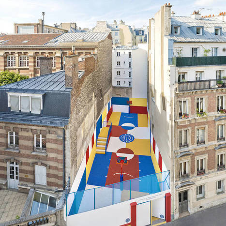 A Rubber Coated Basketball Court That Looks Like An Eye Popping Piet Mondrian Painting - Beautiful/Decay | 建築 | Scoop.it