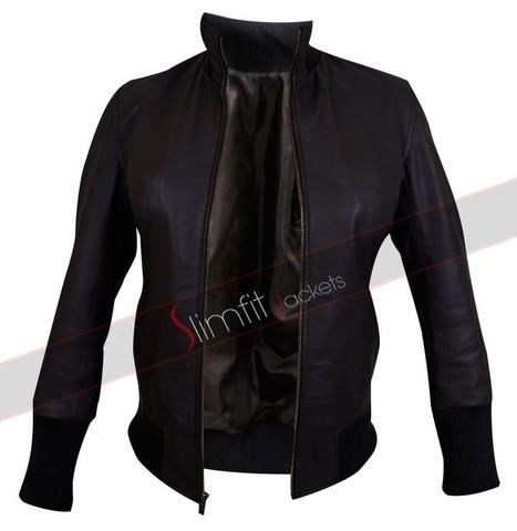 Emma Swan Brown Bomber Jacket | Designers Women Leather Jackets & Pants | Scoop.it