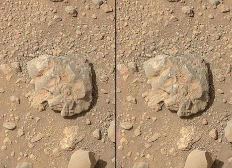 NASA rover's images show laser flash on martian rock (w/ Video) | Physics | Scoop.it