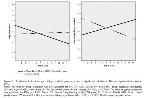 Attitude of gratitude: Pilot study of the 'Three Good Things' exercise | Recovery Research Institute | Psicología Positiva, Felicidad y Bienestar. Positive Psychology,Happiness & Wellbeing | Scoop.it