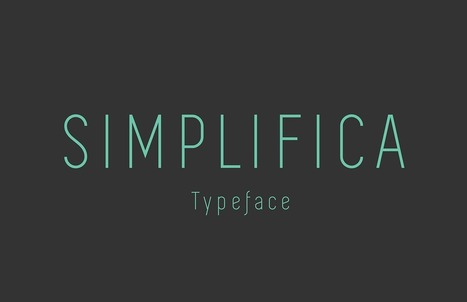 Free Sans Serif Font | Simplifica | Design Freebies & Deals | Scoop.it