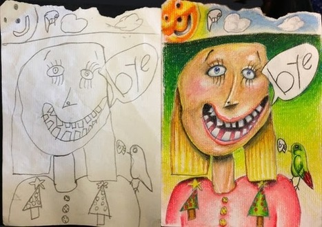 Creative Dad Colors His Kids' Drawings And The Results Are Amazing   The Photomag   Dessin   Scoop.it