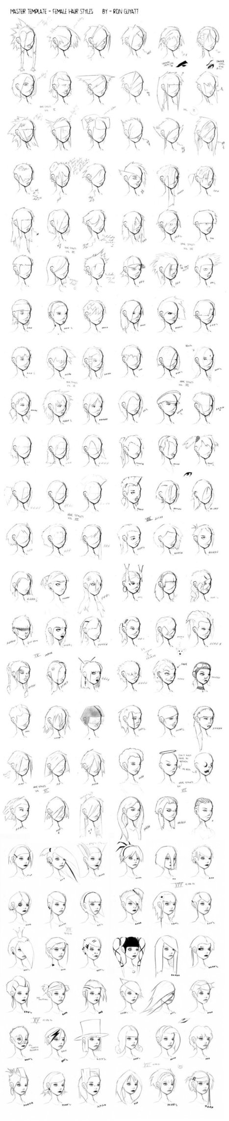 hairstyle drawing in Drawing References and Resources