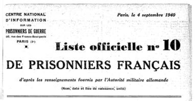 La liste des prisonniers de guerre 39-45 accessible gratuitement | CGMA Généalogie | Scoop.it