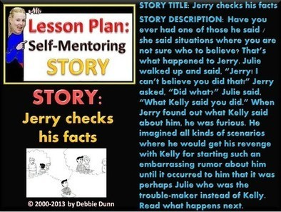 Story chapters 1-4 links: Jerry checks his facts | Anti-Bullying | Scoop.it