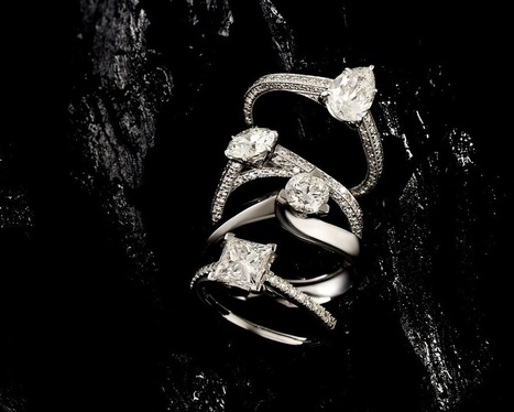 Diamond Engagement Rings, Super Ideal Cut, Round and Cushion Diamond - LES Precieux | marketing | Scoop.it
