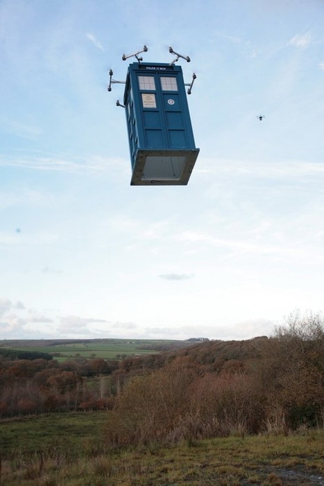 Life-size Flying TARDIS UAV: Propellers on the Outside - Technabob (blog)   Drone News   Scoop.it