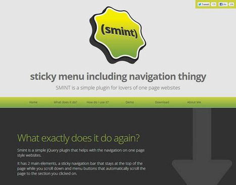 Best jQuery Plugins for Creating Single Page Websites | Code Geekz | Room 208 Student Resources | Scoop.it