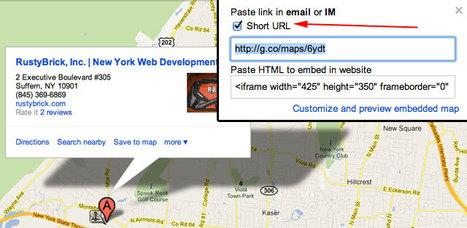 Google Maps Brings Short URL Links To All Users | SEO Tips, Advice, Help | Scoop.it