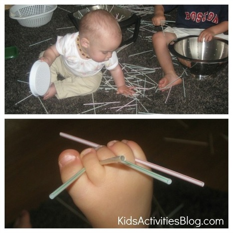 Busy Hands: Colanders, Coffee Stirrers, and Cheese Shaker | Learn through Play - pre-K | Scoop.it