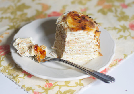 Creme Bruleé Crepe Cake | Candy Buffet Weddings, Events, Food Station Buffets and Tea Parties | Scoop.it