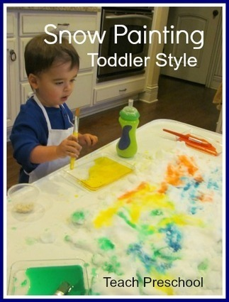 Snow painting with a toddler | Teach Preschool | Scoop.it
