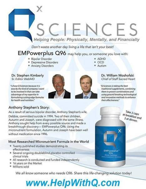 EMPowerplus Q96 Success Stories~ No more suffering! | Brain Health ~ Q Sciences Q96 | Scoop.it