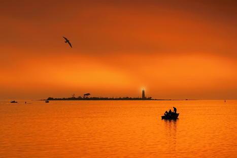 Fishing at sunset by Jeff S. PhotoArt | My Photo | Scoop.it