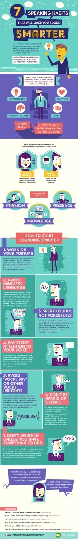7 Speaking Habits That Will Make You Sound Smarter Infographic   Daring Ed Tech   Scoop.it