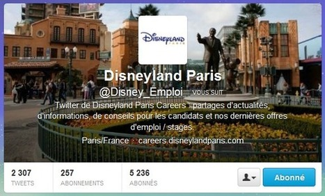 Marque employeur Disneyland Paris : une stratégie digitale cohérente - ModesRH.com | Emploi et Recrutement des talents du Web | Scoop.it