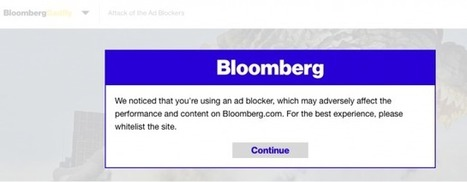 Bloomberg Plea: Ad-Blockers Disrupt the Experience | Consumer Empowered Marketing | Scoop.it