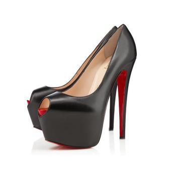 Highness Kid Black Red Leather Platforms Shoes [20131013] - $269.00 : bagbagsoutlets | bags outlet | Scoop.it