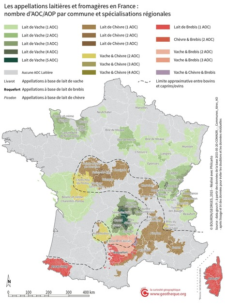 Des AOC à la carte : cartographier les appellations d'origine contrôlée | Univers géographique (geographical universe) | Scoop.it