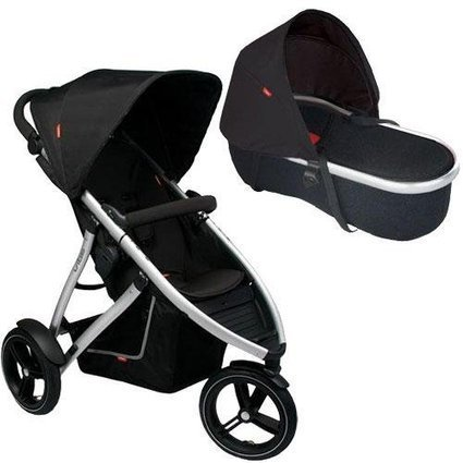 Phil Teds V55 Vibe Buggy Single Stroller in Black with Peanut Bassinet | Baby Stroller Reviews | Scoop.it