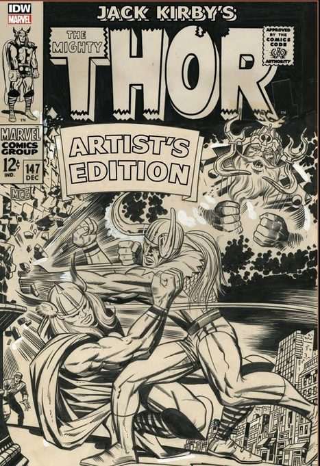 "JACK KIRBY MIGHTY THOR ARTIST EDITION (HC) | The Co(s)mic Comic Book Broadcast | Jack ""King"" Kirby 