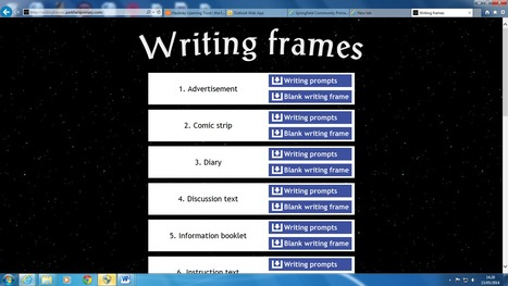Writing frames   Computing In The Classroom   Scoop.it