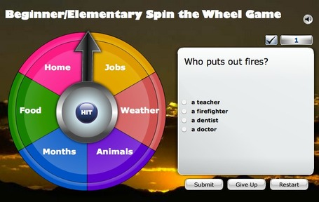 ESL Fun Game, Spin the Wheel Game | Technology and Education Resources | Scoop.it