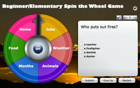 ESL Fun Game, Spin the Wheel Game | Victoria ELD | Scoop.it