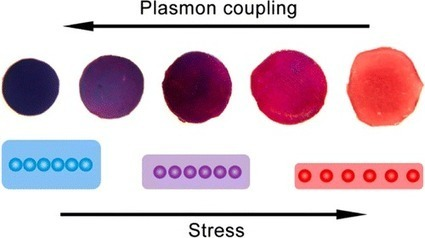Gold Nanoparticles Strung Together to Create Color-changing Flexible Pressure Sensor | Nanotechnology & Imaging | Scoop.it