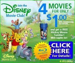 4 Disney Movies and a Tumbler - $1 SHIPPED! | Movies & Entertainment | Scoop.it