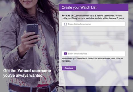 Yahoo grants wishlist usernames - Internet Applications & Software | Digital & Online Marketing | Scoop.it