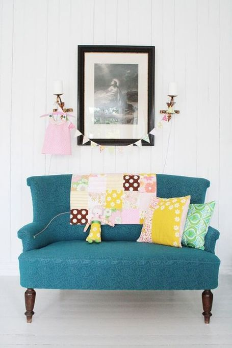 10 Summery Turquoise Couches | Interior Design from St. Catherine University | Scoop.it