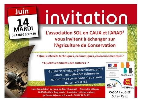 Agriculture de Conservation 14 JUIN 2016 de 13h30 à 17h30 à Biville la Baignarde (76) | Chimie verte et agroécologie | Scoop.it