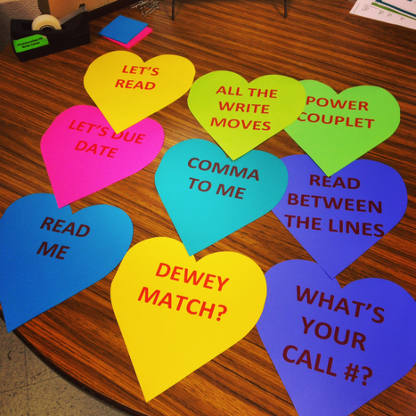 "Fun with Library and Literary Conversation Hearts at the Hooch Learning Studio | Buffy Hamilton's Unquiet Commonplace ""Book"" 