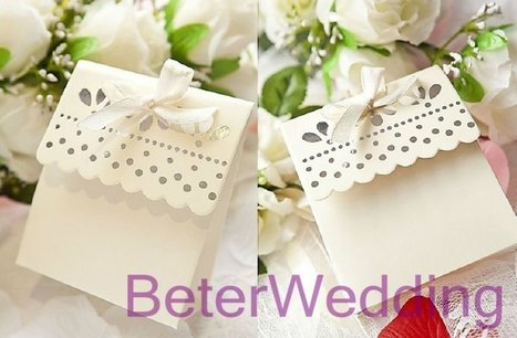 Sweet Scalloped Favor Box  BETER-TH003 http://www.aliexpress.com/store/512567 #weddingfavorboxe #candybox #favorboxes #weddingdecoration | Wedding Gifts | Scoop.it