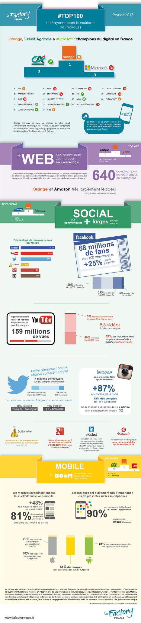 [Infographie] les 100 marques avec le plus fort rayonnement numérique | Inbound marketing + eCommerce | Scoop.it