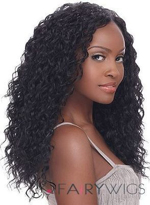 Top-rated Long Curly Black No Bang African American Lace Wigs for Women 20 Inch : fairywigs.com | African American Wigs | Scoop.it