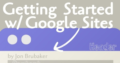 Getting Started with Google Sites by Jon Brubaker   ICT tools for learning   Scoop.it