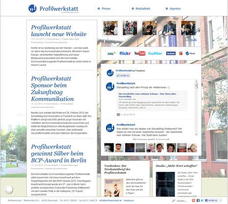 Profilwerkstatt – Online Social Media Newsroom   Social Media Newsrooms   Scoop.it