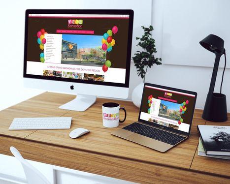 Refonte du site internet de Fête Sensation - agence AntheDesign | Agence web AntheDesign | Scoop.it