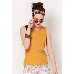 Pastel Orange Belted Top   Online shopping for women   Scoop.it