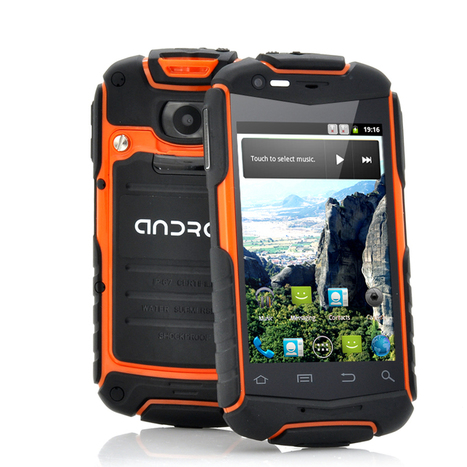 Enyo-N1 - Rugged Android Phone with 3.5 Inch Screen (1GHz CPU, IP53 Water Resistant, Shockproof, Dust Proof, Orange) | cool electronics gadgets | Scoop.it