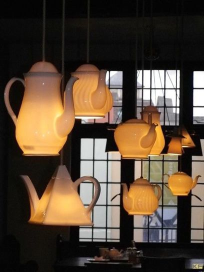 DIY Glowing Teapot Lights | DIY Craft Ideas For The Home | Scoop.it