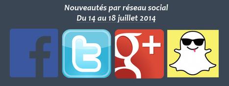 Récapitulatif des dernières fonctionnalités par réseau social : du 14 au 18 juillet 2014 - Clément Pellerin - Community Manager Freelance & Formateur réseaux sociaux   Social Media   Scoop.it