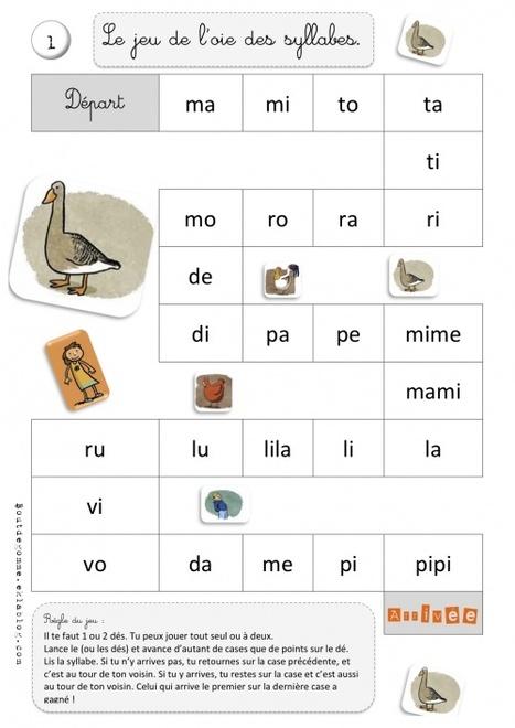 Jeux de l'oie - Combinatoire - Syllabique | Primary French Immersion - Grade 1 | Scoop.it