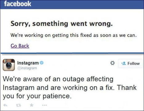 Facebook, Instagram Down for an Hour: A Technical Glitch or a Hack? | Current Online Marketing Trends | Scoop.it