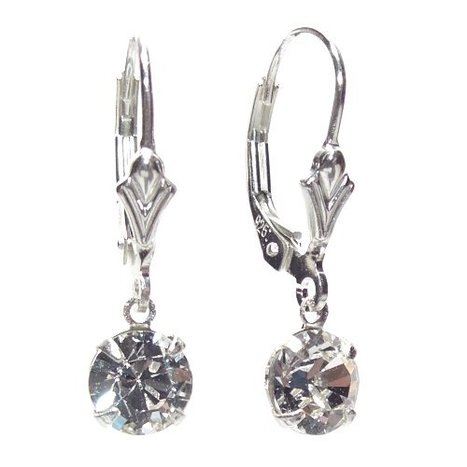 Petite Swarovski Crystal drop elements on Sterling Silver Lever back earrings with Gift Box. Made in England.Beautiful jewellery for very special people.   Online Jewellery Store in UK   Scoop.it