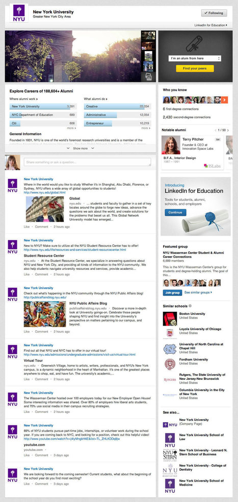 Introducing LinkedIn University Pages | Professional nertworking | Scoop.it