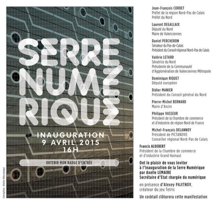 Serre Numérique - Inauguration le jeudi 9 avril 2015 | Internet du Futur | Scoop.it